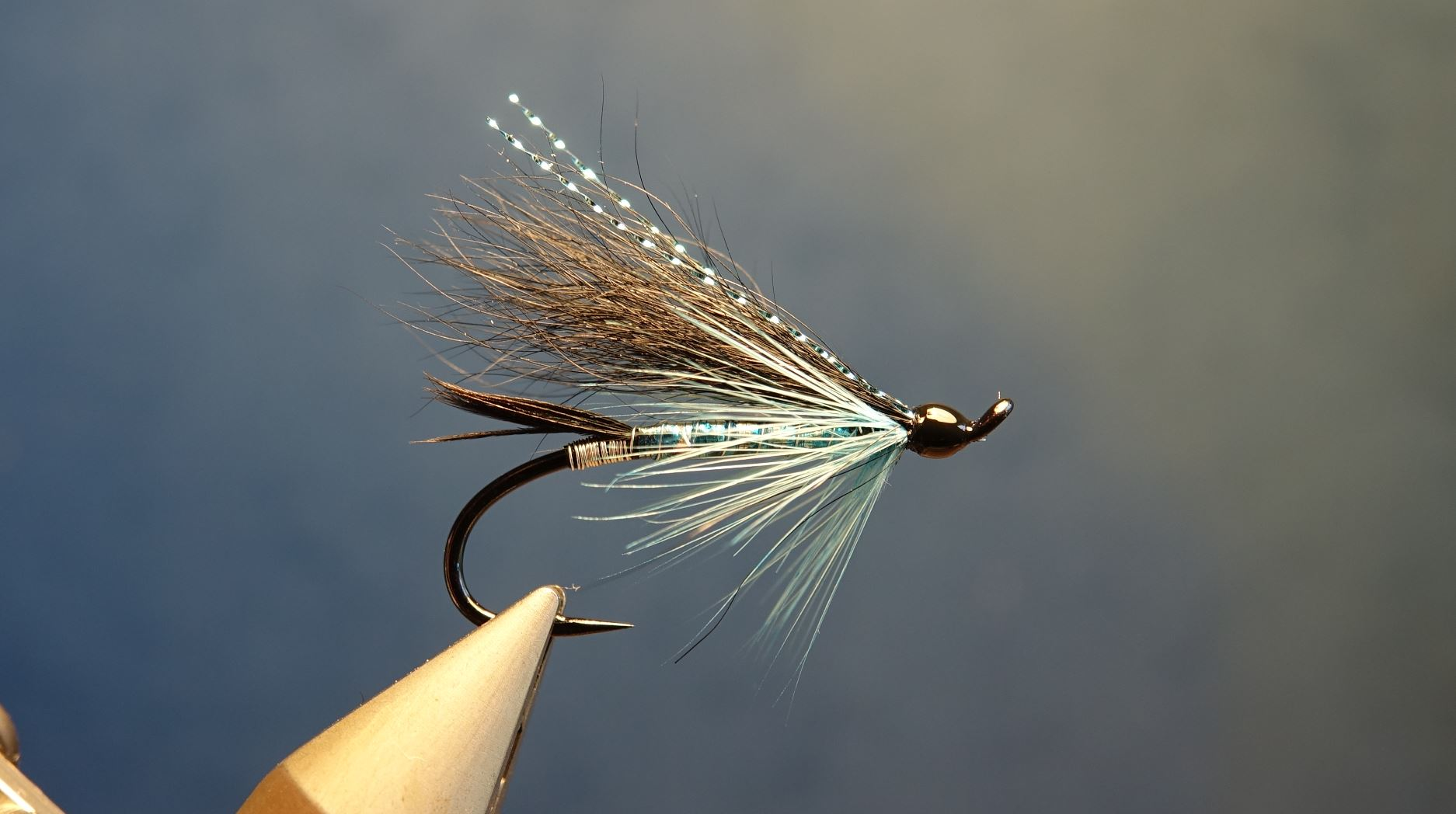 Black & blue fly mouche saumon salmon fly-tying eclosion