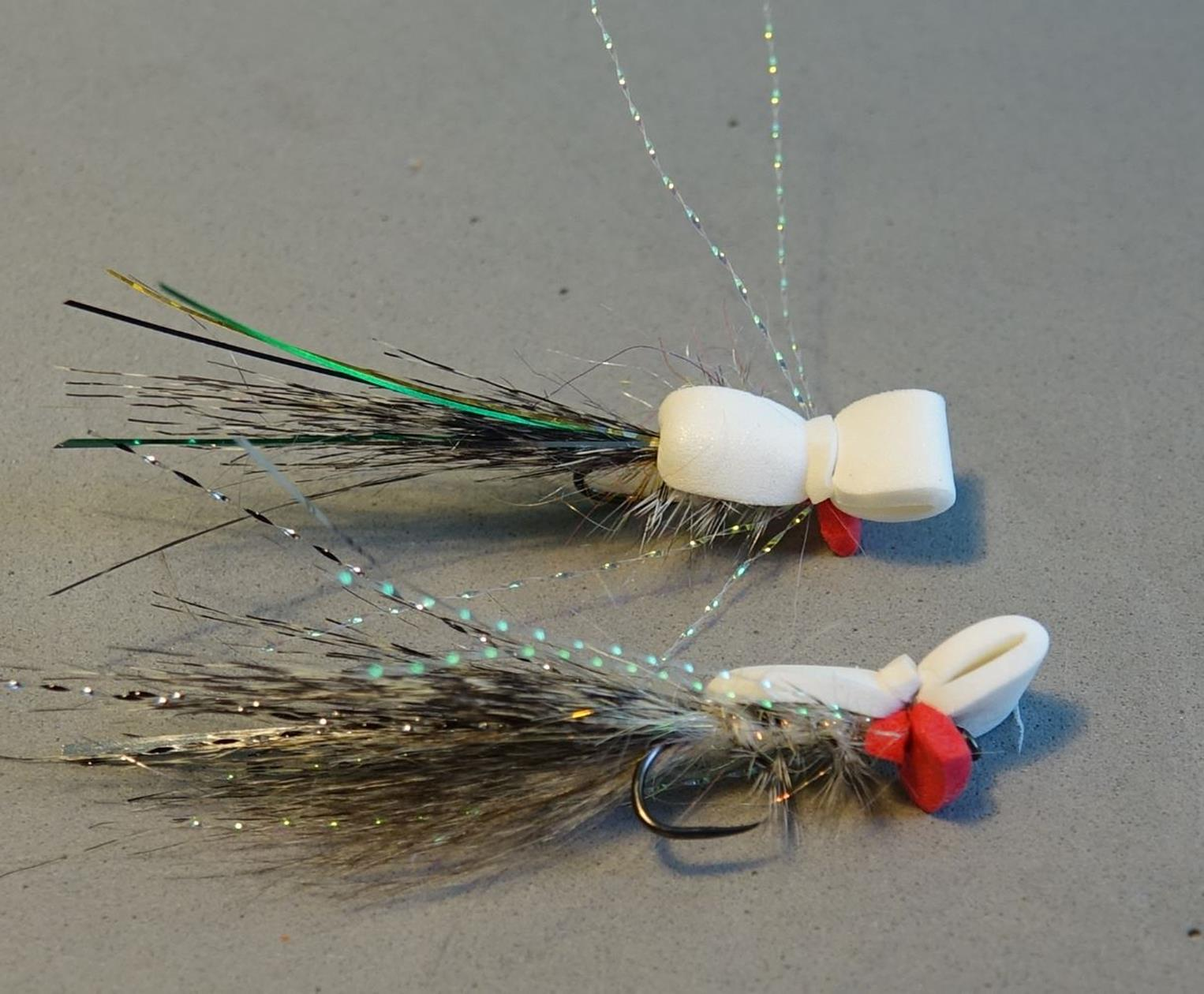 gurgler foam hackle tinsel crystal flash mouche mousse fly tying eclosion