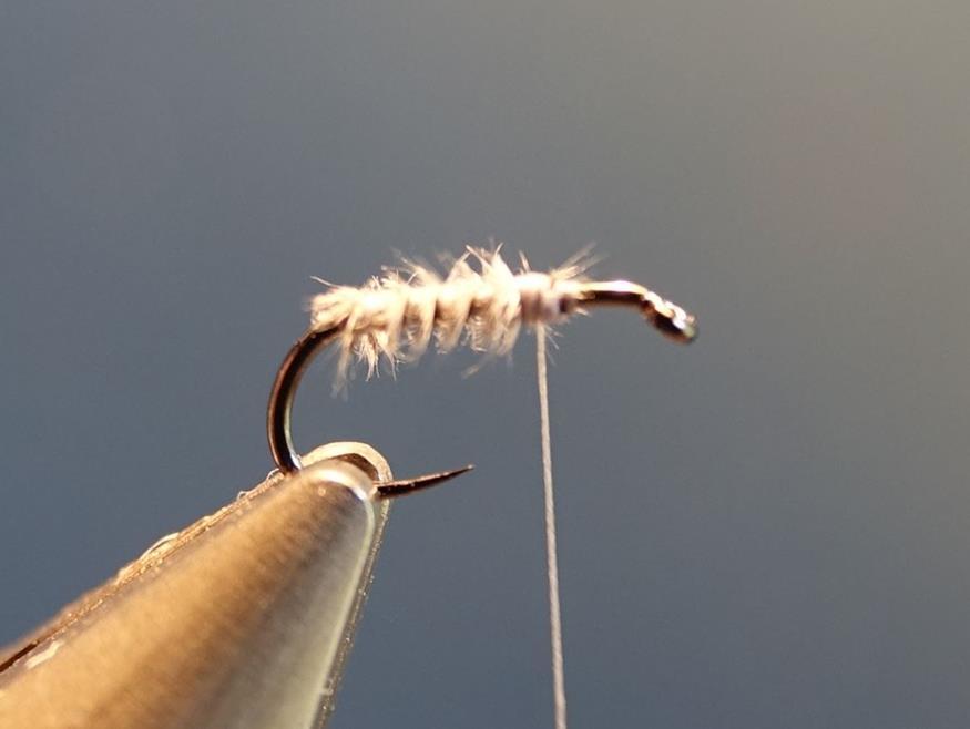 Moucheron heron CDC mouche fly tying eclosion