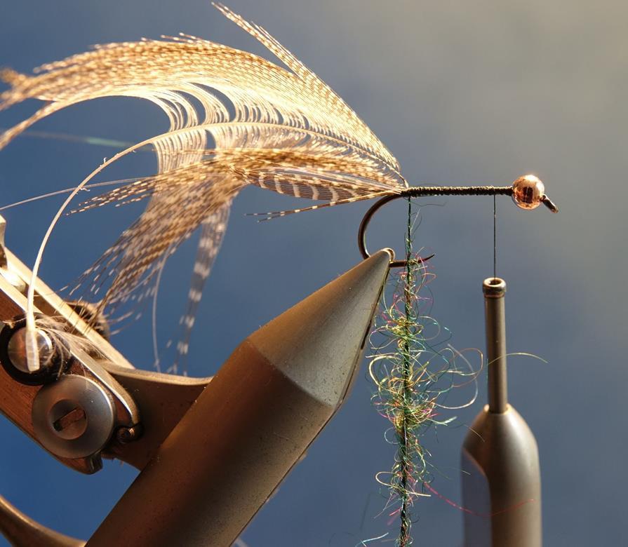 Streamer vairon flashabou rainbow mouche fly tying ecosion