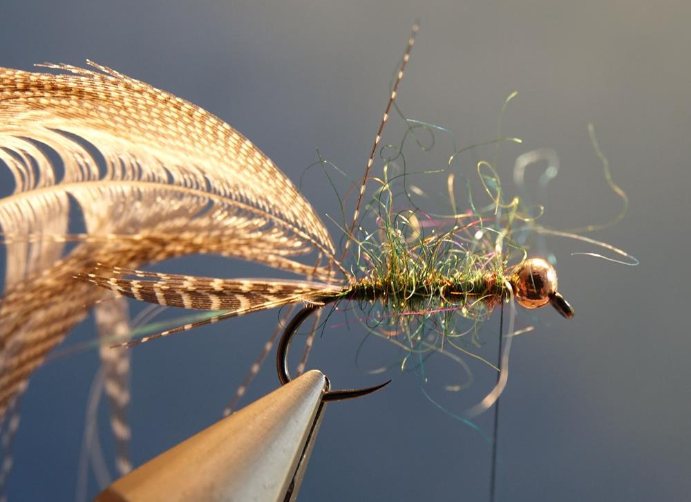 Streamer vairon flashabou rainbow mouche fly tying ecosion
