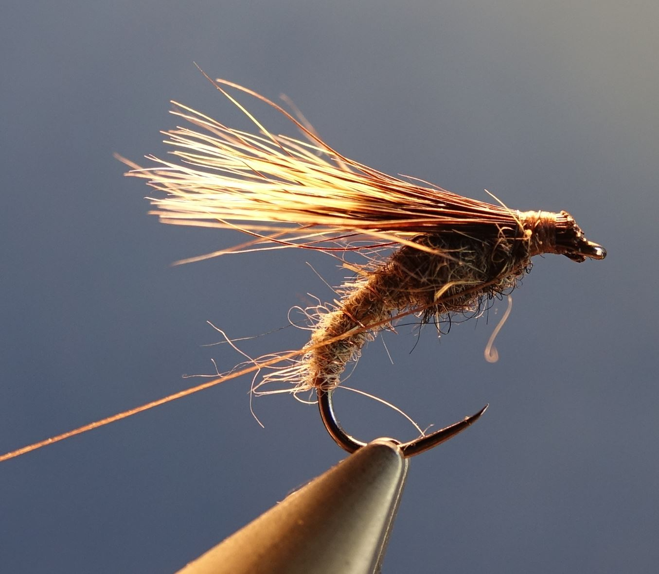 Emergente sedge marmotte fly tying mouche eclosion