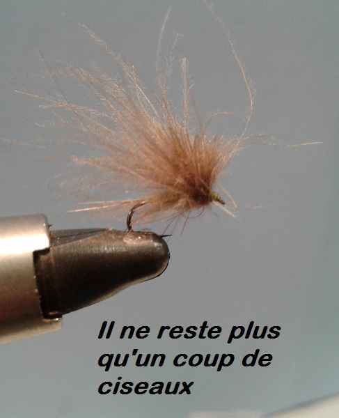 CDC parachute mouche quill fly tying éclosion