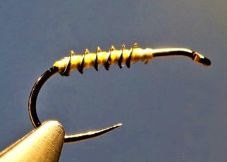 Ara bleu rectrice plume herl fly tying mouche eclosion