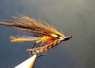 mouche truite de mer spoey hackle junglke cock fly tying eclosion sea trout salmon saumon