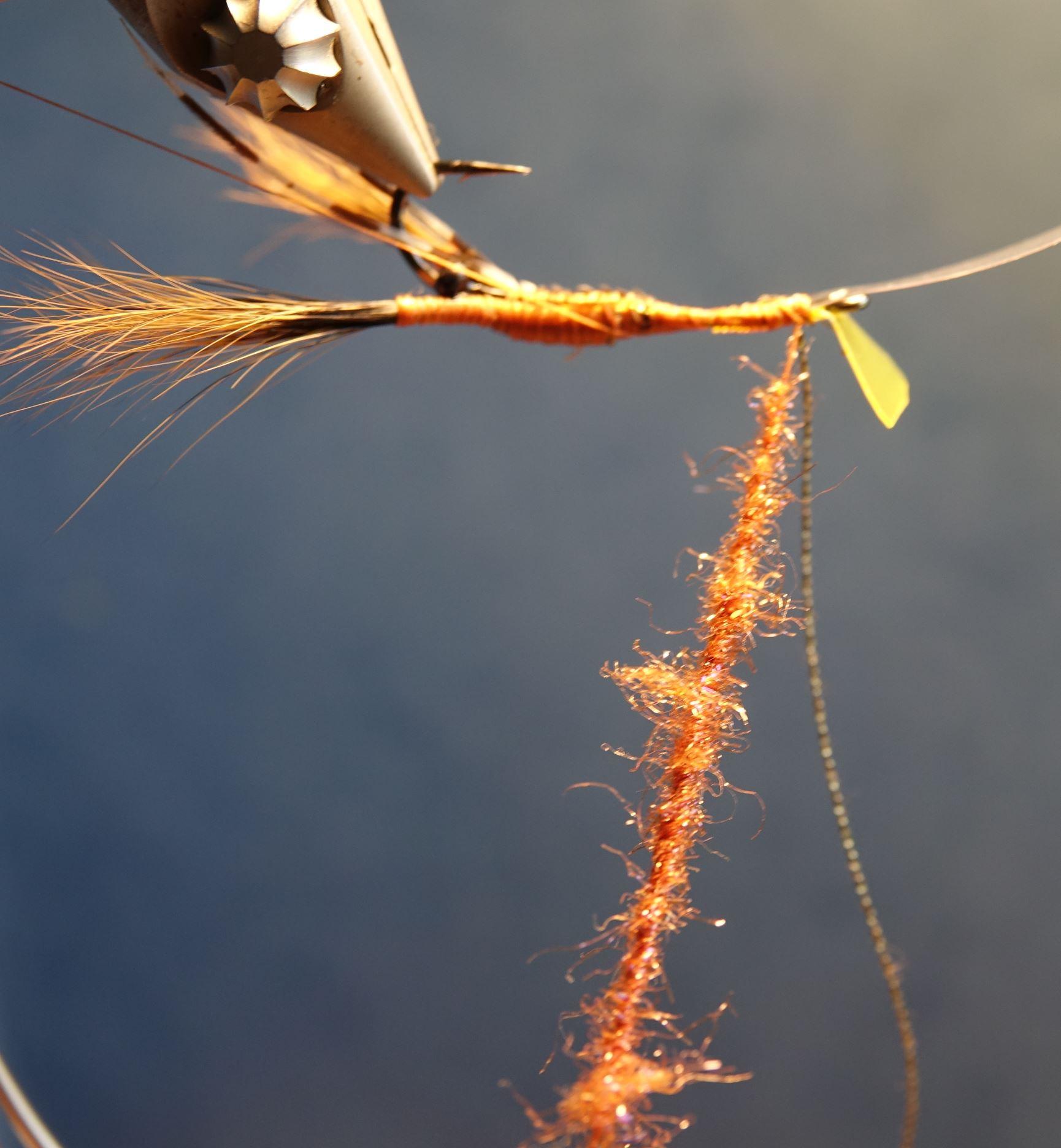 Ecrevisse craw crayfish fly tying mouche eclosion abdomen