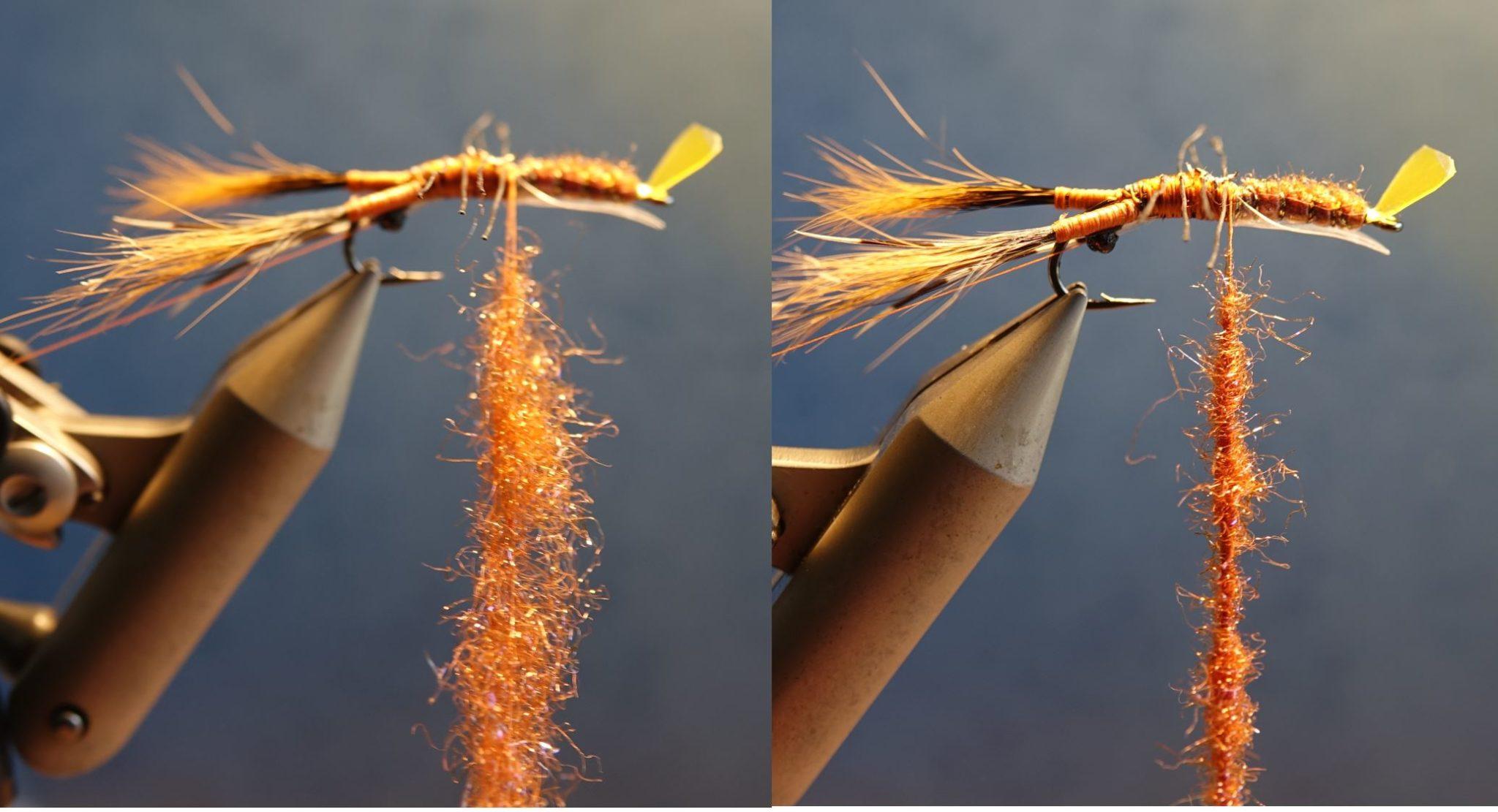 Ecrevisse craw crayfish fly tying mouche eclosion cephalothorax