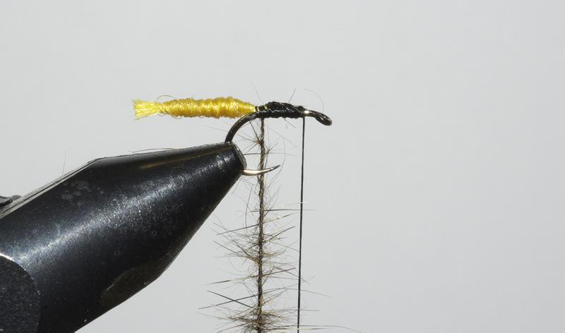voilier crp détaché noué CDC dubbing lièvre fly mouche tying flytying eclosion