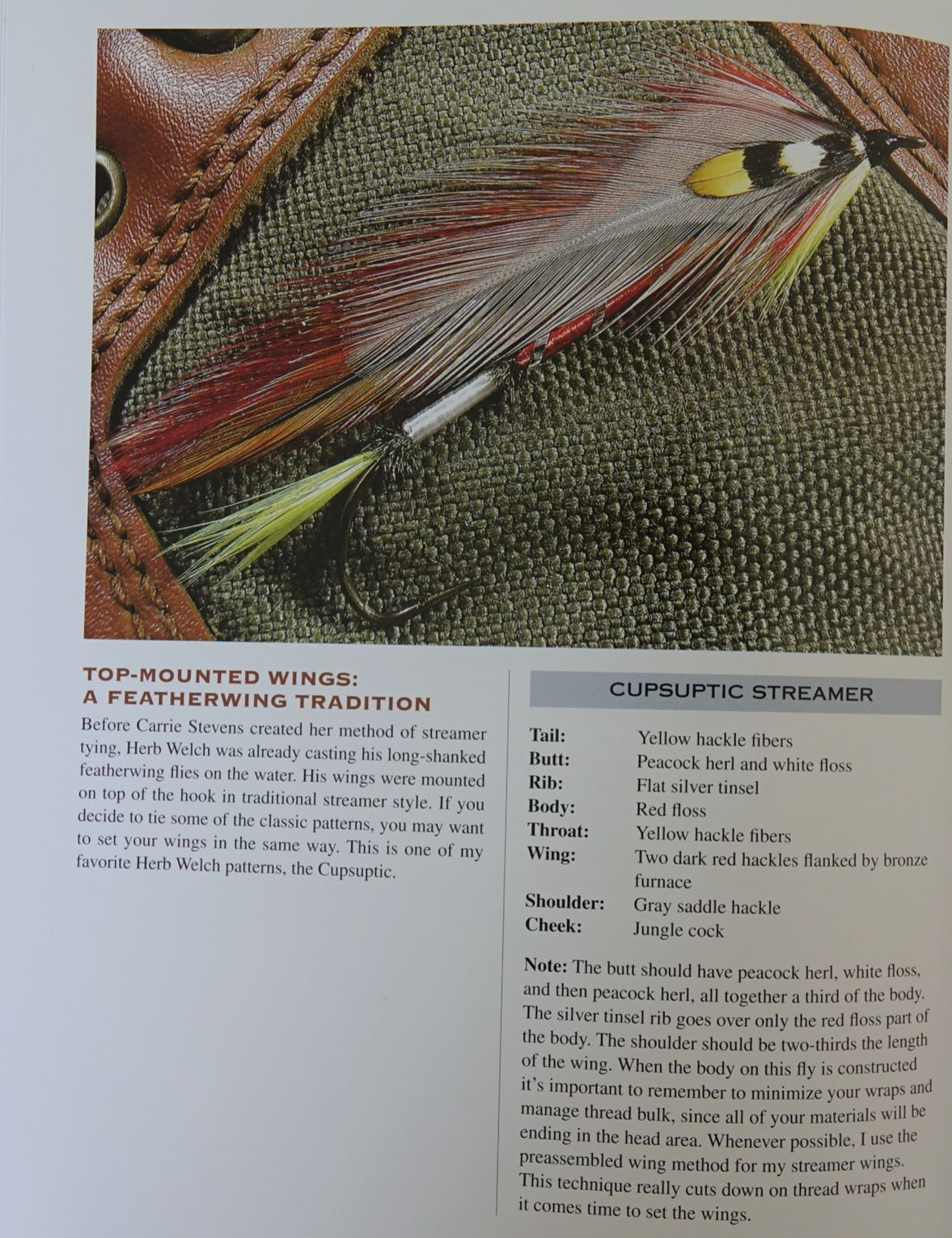 Tying heritage featherwing streamers mouche fly flytying tying eclosion