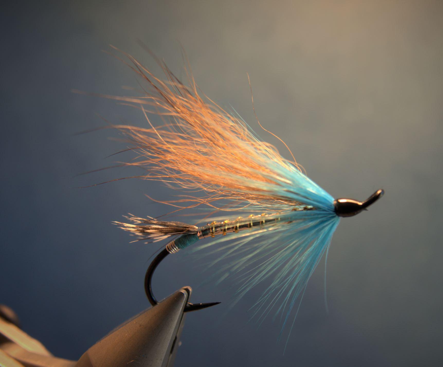 Blue Reynard renard fly tying flytying mouche eclosion fur poil saumon salmon seatrout truite de mer